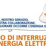 Avviso di interruzione di energia elettrica