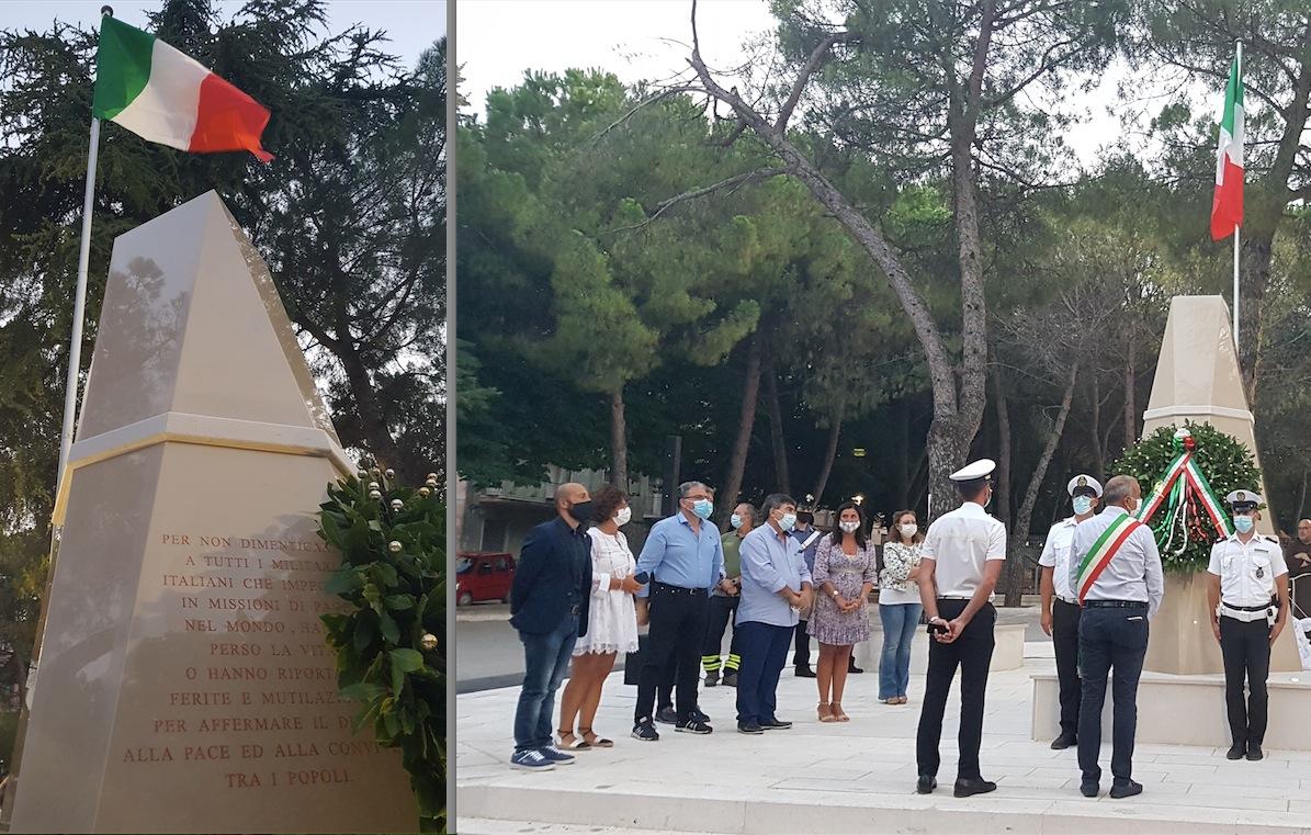 Vico, un monumento e una piazza in onore dei Caduti nelle missioni di Pace