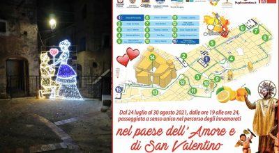 Piazze, vicoli, archi e larghi: dal 24 luglio il percorso di San Valentino